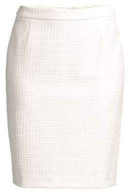 BOSS Vilea Structured Houndstooth Pencil Skirt