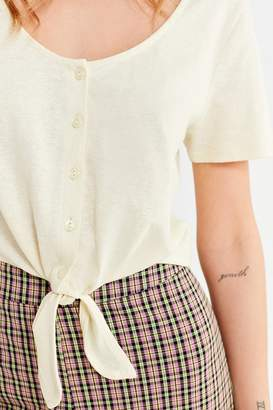 Urban Outfitters Tie-Front Button-Down Tee