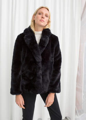 And other stories Faux Fur Jacket