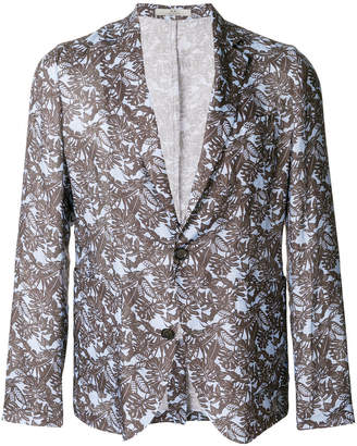 Corneliani palm-print unstructured blazer