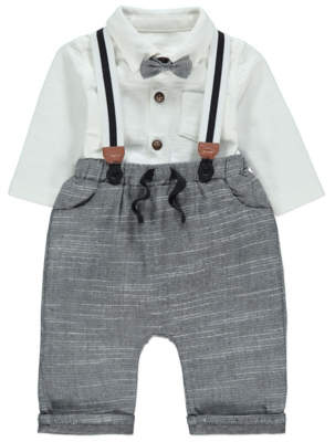 George Shirt and Trousers with Braces Outfit