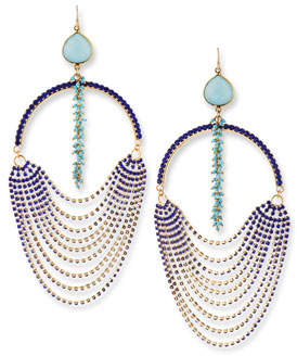 Devon Leigh Blue Ombre Oversized Crystal Earrings