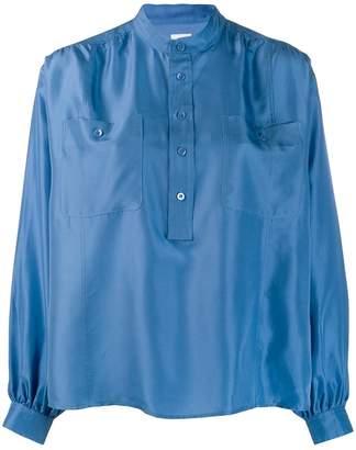 Hope band collar shirt