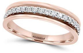 Effy 0.25 TCW Diamond and 14K Rose Gold Band Ring