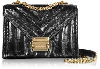 Michael Kors Whitney Small Shiny Crinkled Leather Convertible Shoulder Bag