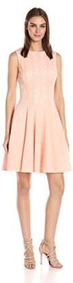 Calvin Klein Women's Laser Cut Flare Dress