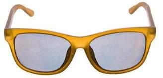 Gucci Mirror-Metallic Web Sunglasses
