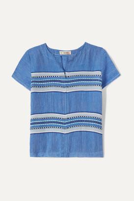 Lemlem Kids - Welela Striped Cotton-blend Gauze Top - Blue