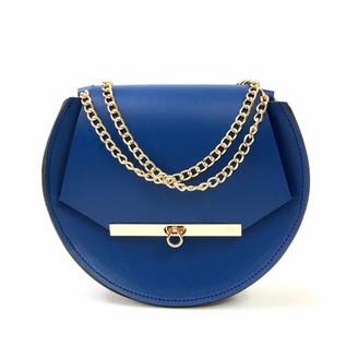 Angela Valentine Handbags Loel Mini Military Bee Chain Bag Clutch In Royal Blue