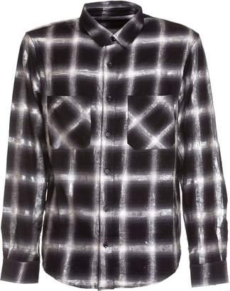 Amiri Glitter Check Cotton Shirt