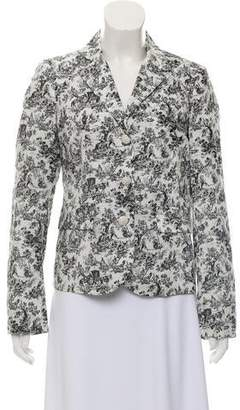 Band Of Outsiders Printed Peak Lapel Blazer