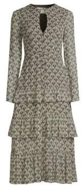 Alexis Junino Tiered Ruffle Printed A-Line Dress