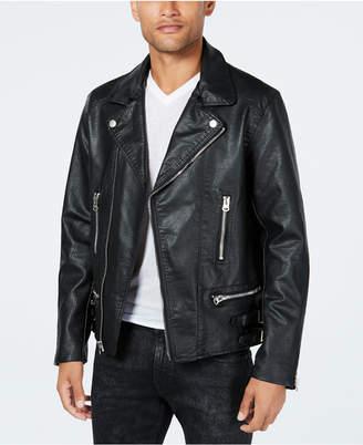 Reason Men Moto Jacket with Fleece-Lined Collar