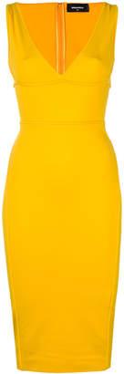 DSQUARED2 plunge neck dress