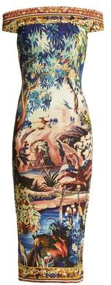 Mary Katrantzou Ireson Tapestry Print Jersey Dress - Womens - Multi