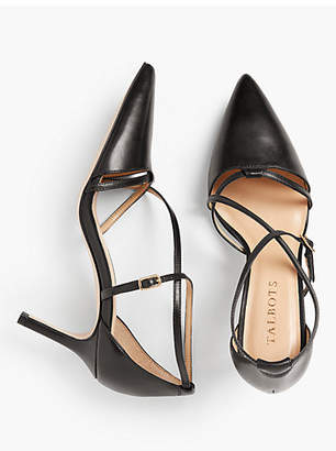 Talbots Erica Strappy Pumps - Nappa Leather