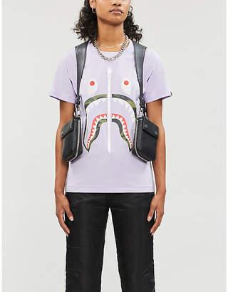 BAPE Shark graphic-print cotton-jersey T-shirt