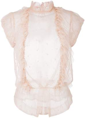 Zadig & Voltaire Zadig&Voltaire tulle ruffle blouse