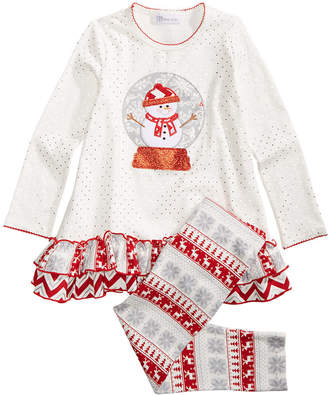 Bonnie Jean Toddler Girls 2-Pc. Snow Globe Top & Leggings Set