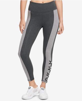 DKNY Sport Colorblocked Logo High-Waist Leggings, Created for Macy's