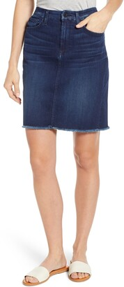 7 For All Mankind JEN7 by Raw Hem Denim Pencil Skirt