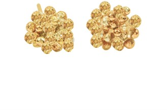 Lily Flo Jewellery Rock Chic Flower Stud Earrings In Solid Gold