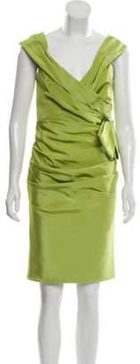 Roland Nivelais Silk Off-the-Shoulder Dress Lime Roland Nivelais Silk Off-the-Shoulder Dress
