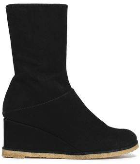 Castaner Suede Wedge Ankle Boots