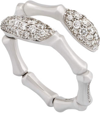Chimento 18k White Gold Diamond Bypass Ring, Size 6.5
