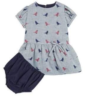 Isabel Garreton Baby's Bird Drop Waist A-Line Dress & Bloomers Set