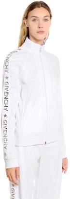 Givenchy Logo Bands Neoprene Jersey Track Jacket