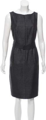 Akris Punto Zip-Up Belted Knit Dress