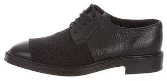 Yang Li Leather Lace-Trimmed Oxfords