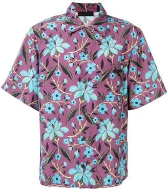 Prada loose floral-print shirt