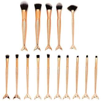 Becoler Eyebrow Eyeliner Blush Cosmetic Concealer Brushes 15 Pcs