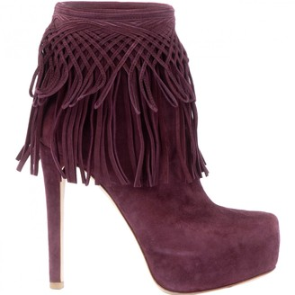 Christian Dior Purple Suede Boots