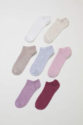 H&M 7-pack Ankle Socks - White