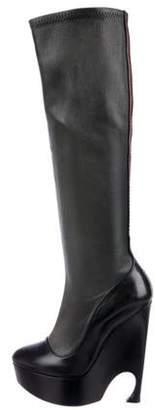 Christian Dior Leather High-Heel Boots Black Leather High-Heel Boots