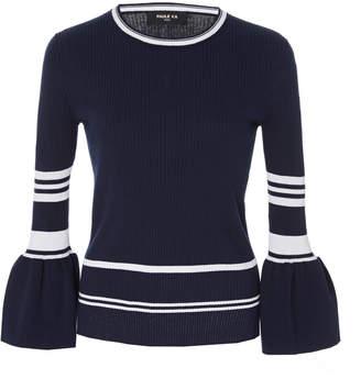 Paule Ka Stripe Cotton Pullover Top