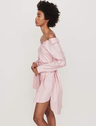 Maje Oversized striped shirt dress