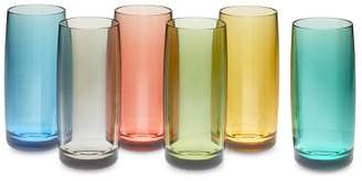 DuraClear® Outdoor Highball Glasses Set of 6, Multicolor