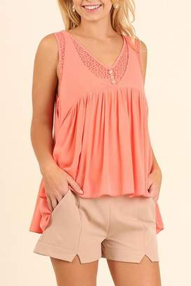 Umgee USA Sleeveless Babydoll Top