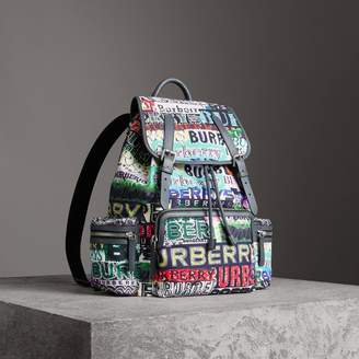 Burberry The Large Rucksack in Tag Print