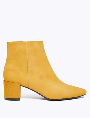 Marks and Spencer Block Heel Almond Toe Ankle Boots