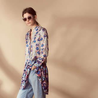 Sandro 100% silk all-over print dress