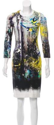 Just Cavalli Long Sleeve Crew Neck Dress