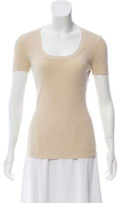 Wolford Rib-Knit Short Sleeve Top