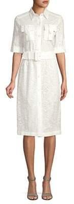 Derek Lam Short-Sleeve Lace Dress