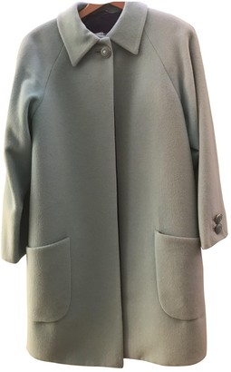 Gianni Versace Turquoise Wool Coat for Women Vintage