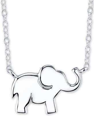"""Unwritten Elephant Pendant Necklace in Sterling Silver, 16""""+2"""""""